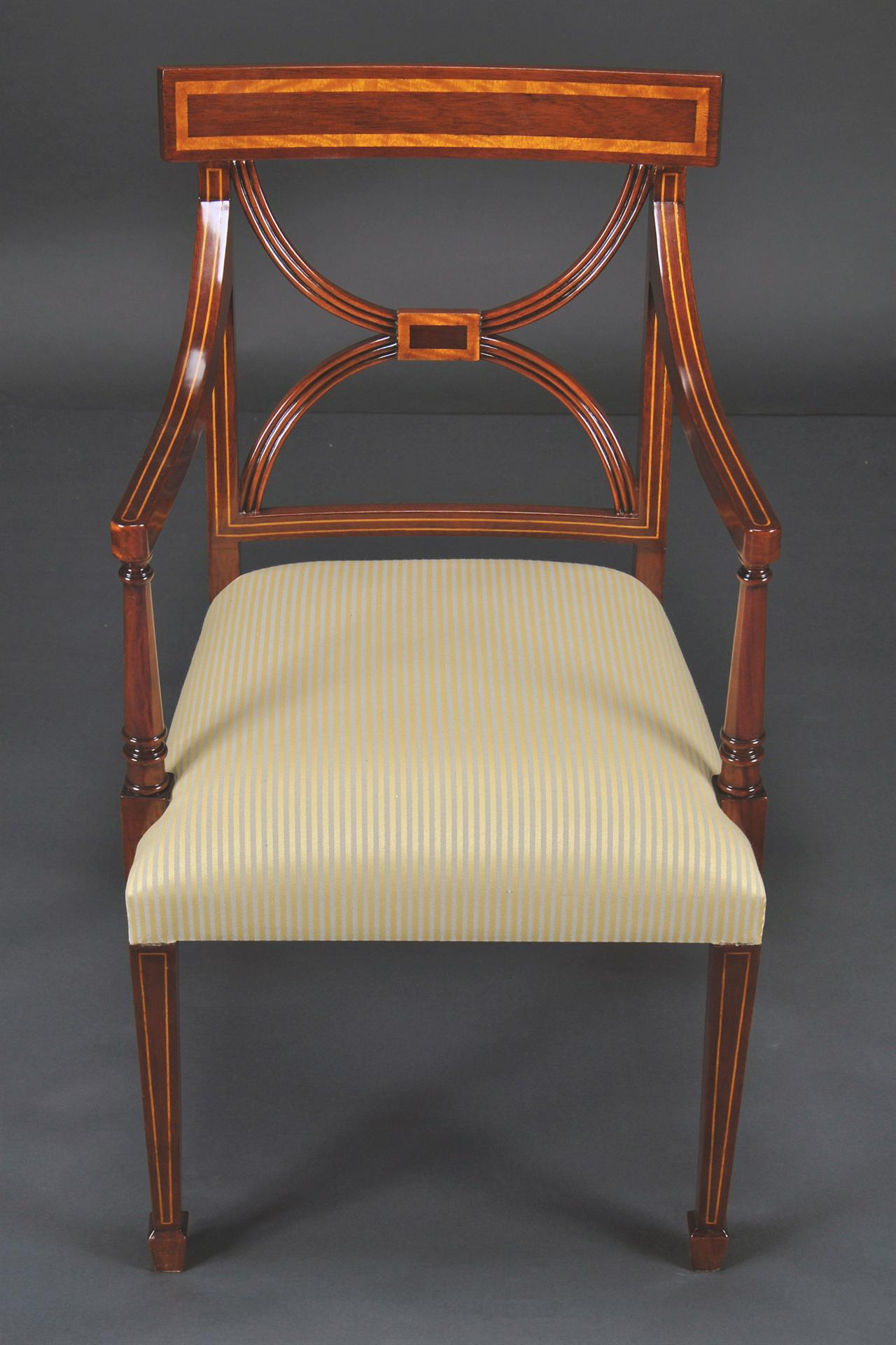strong dining room chairs | Cross Back Dining Room Chairs, Banded Satinwood on Solid ...