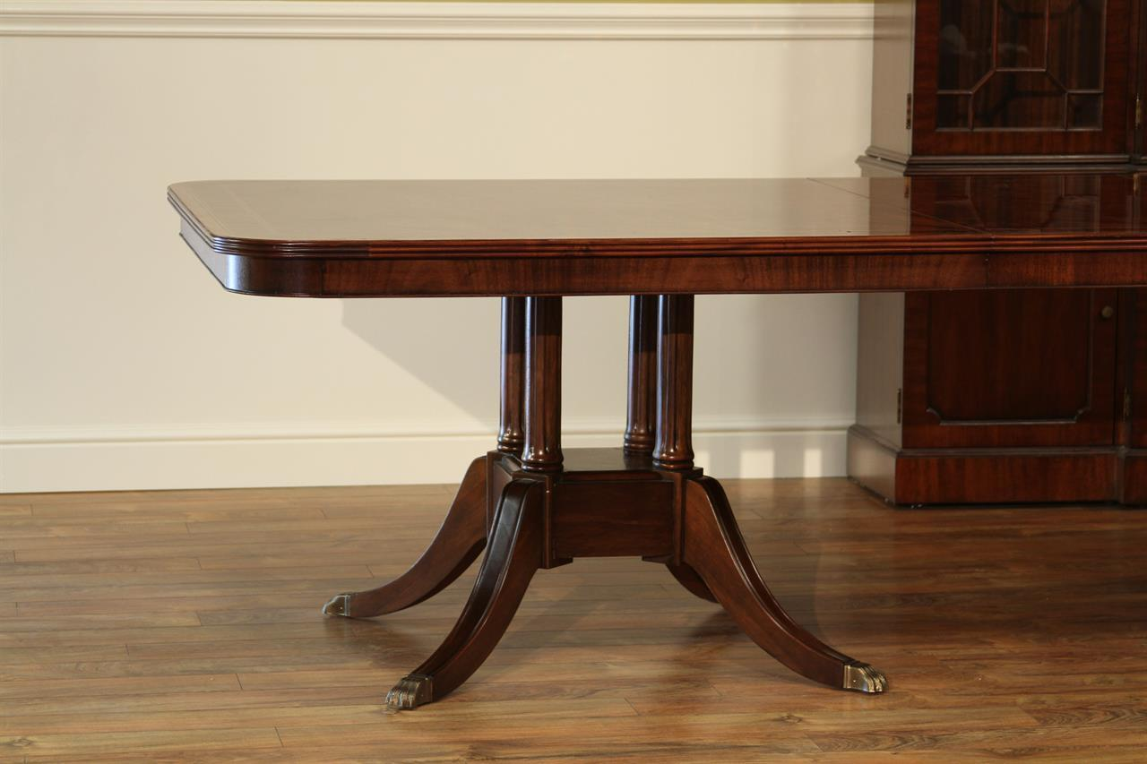custom american made mahogany dining room table