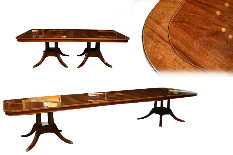 custom american made mahogany dining room table