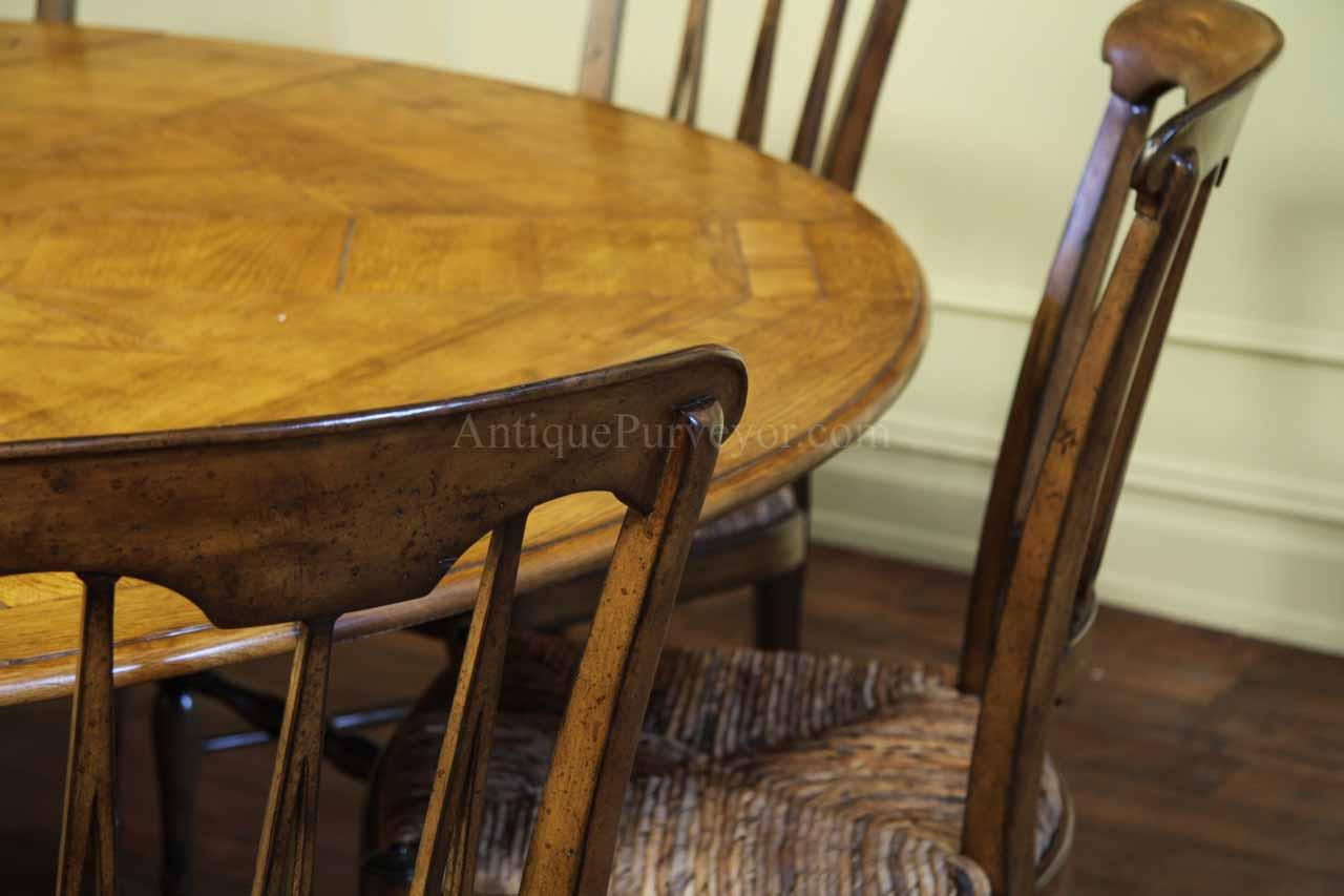 64 84 Round Solid Oak Dining Table with Leaves