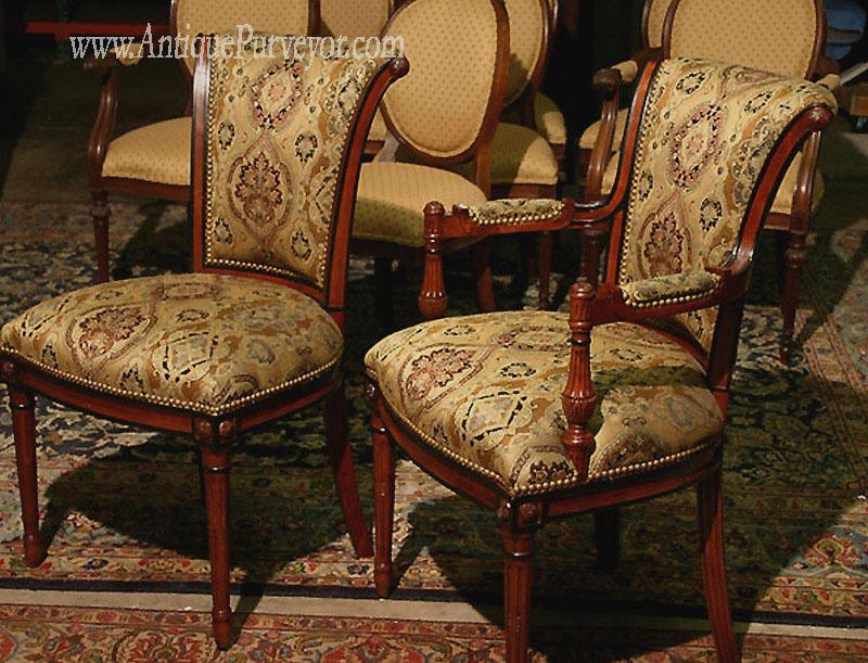 French Style Upholstered Dining Chairs