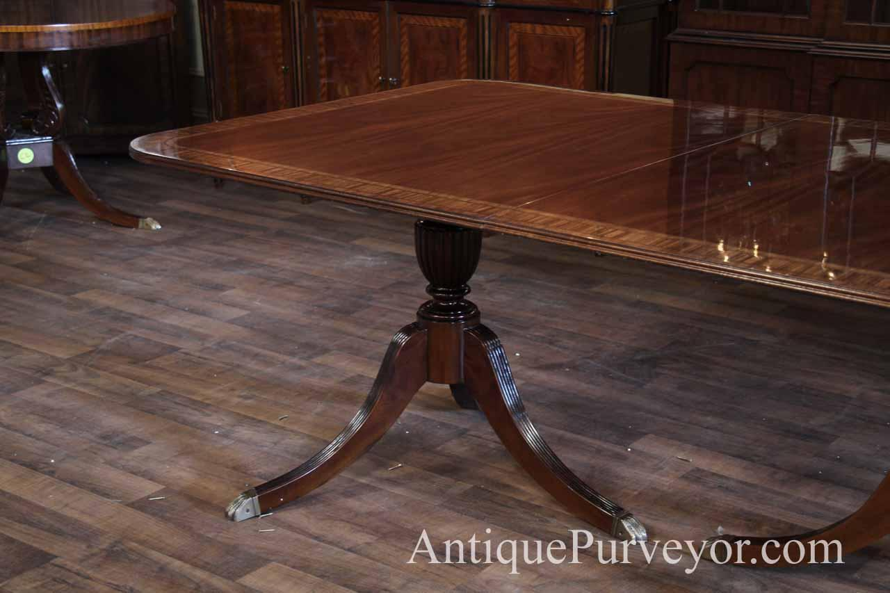 Gany Table On Duncan Phyfe Style Pedestals