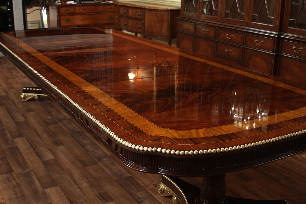 American empire style mahogany dining table for 8ft dining room table