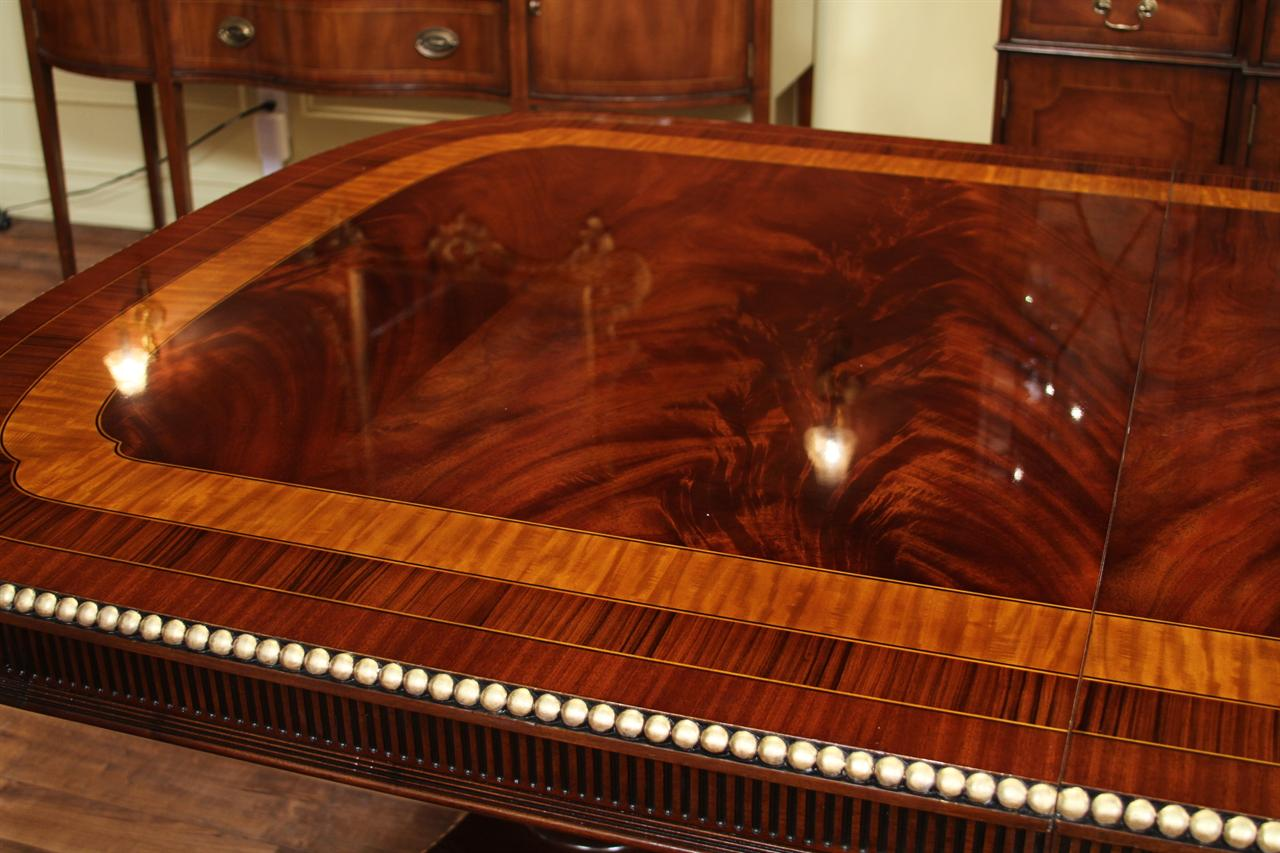 American empire style mahogany dining table for Expensive dining tables