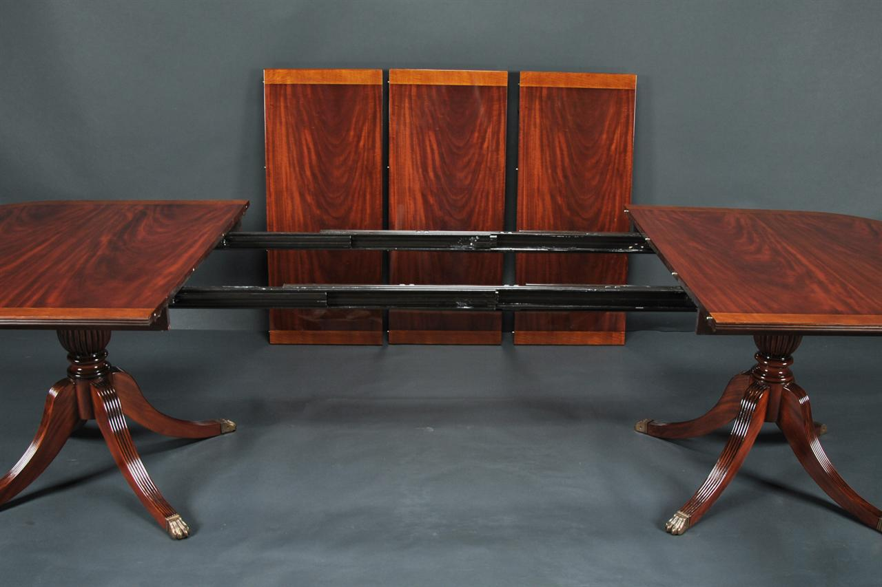 Phyfe Dining Table Mahogany Double Pedestal Dining Table
