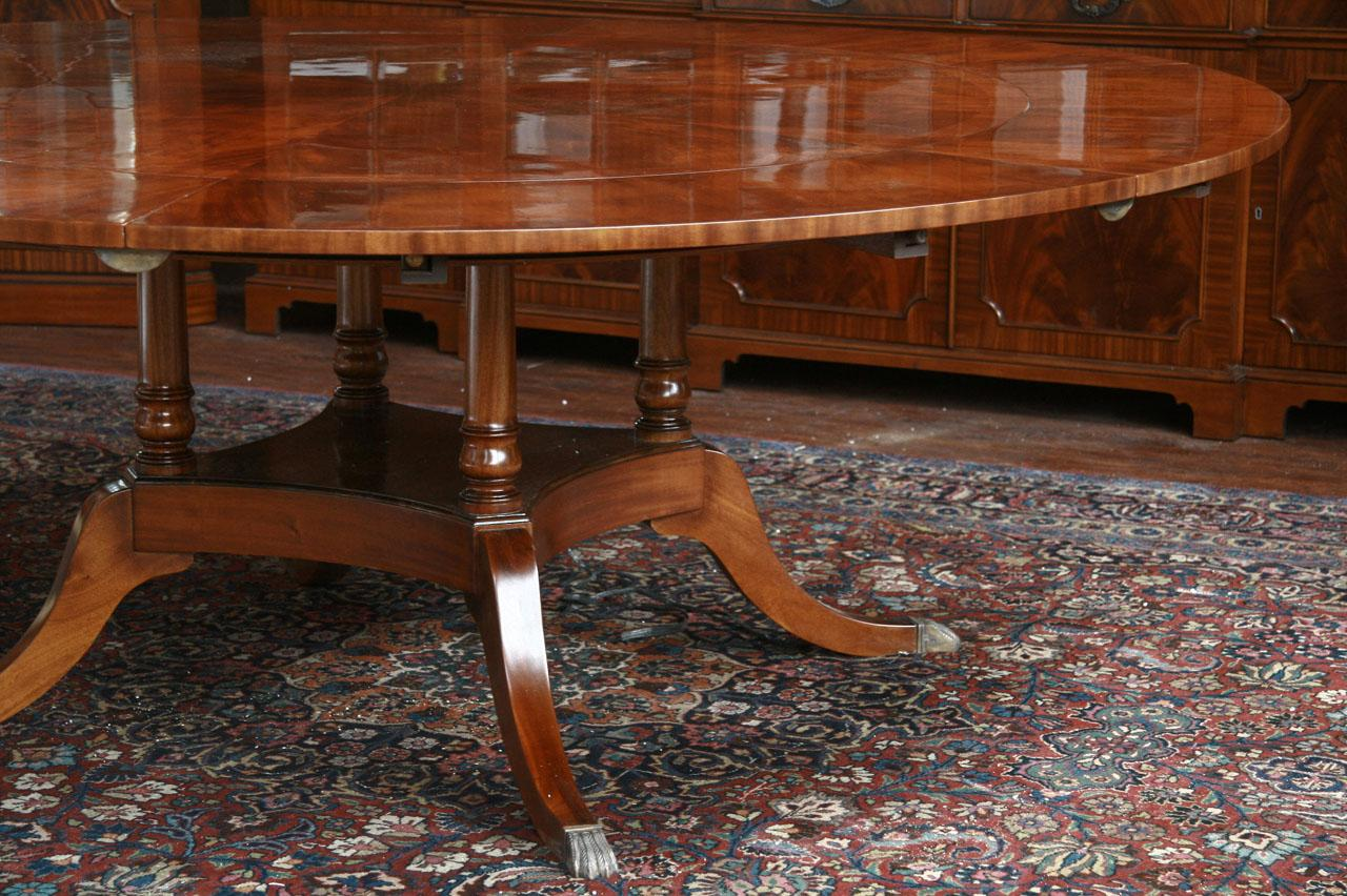 Solid Mahogany Pedestal For Round Dining Tables