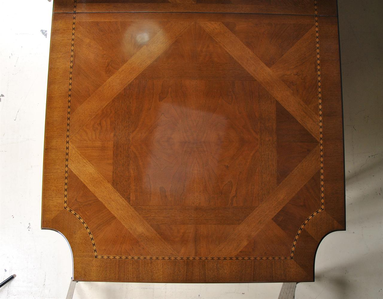 E J Victor Used Newport 8 Leg Walnut Dining Table