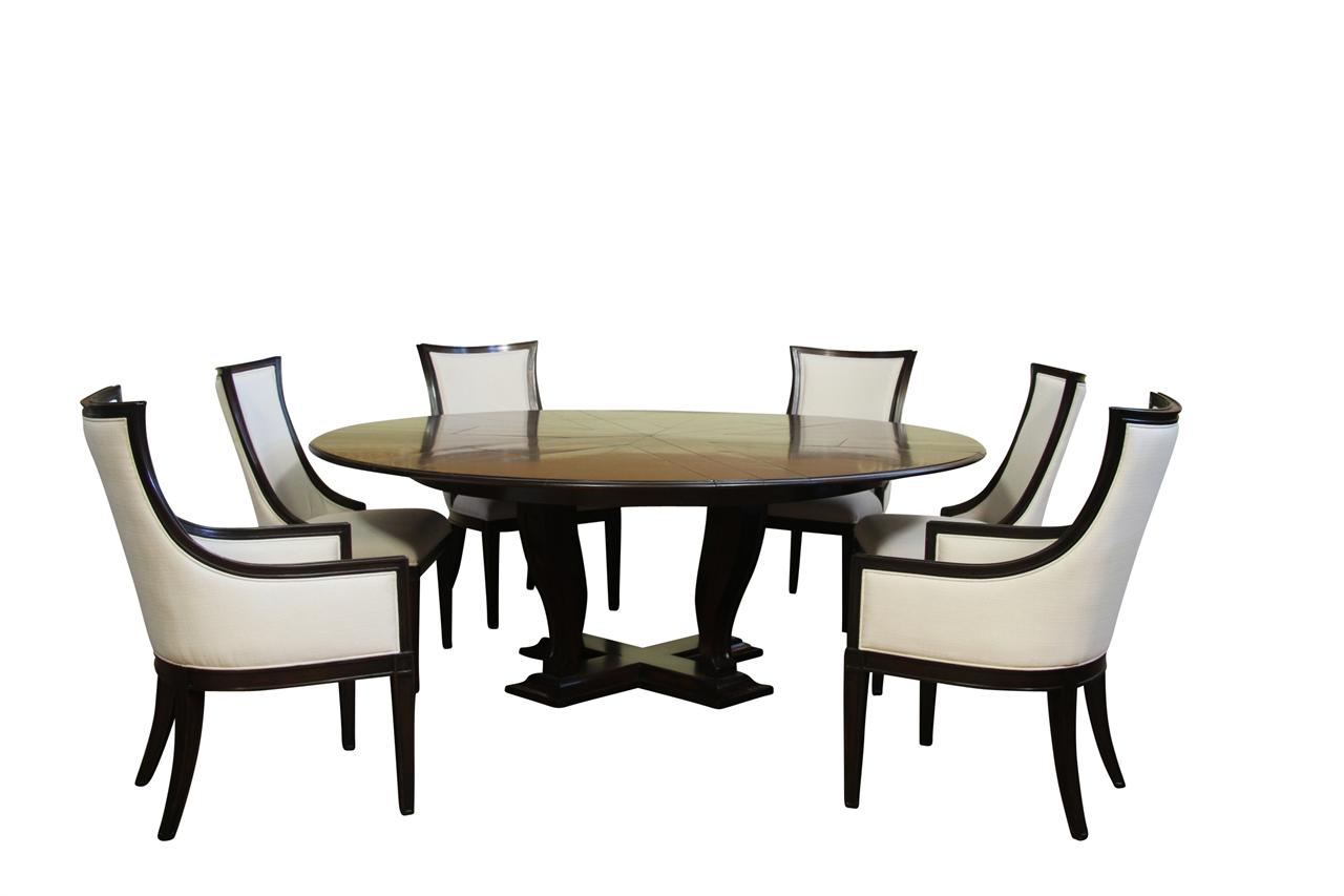 Ebonized transitional upholstered back dining chairs for High back dining room chairs with arms