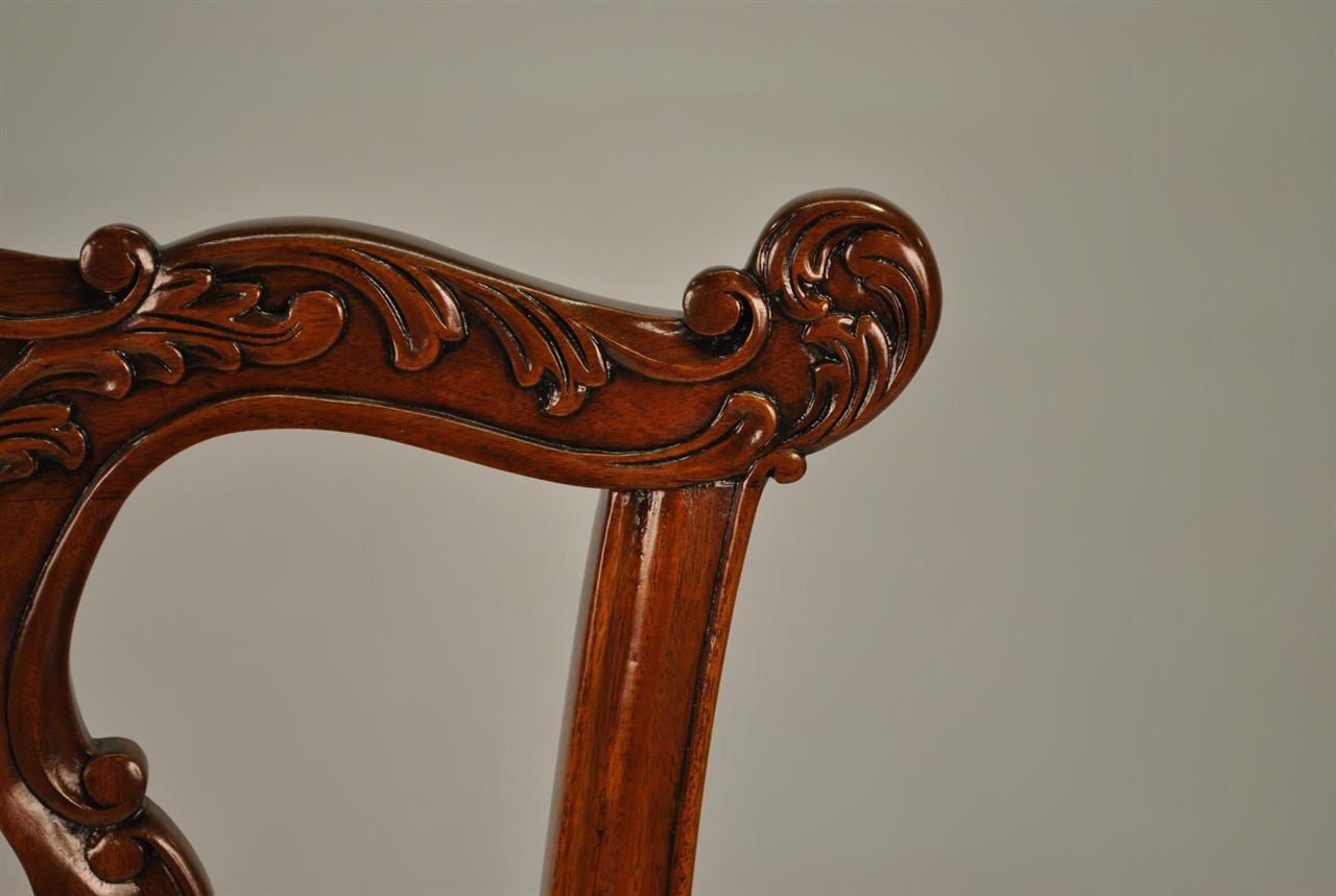 Chippendale Furniture Essex Mahogany Chippendale Chairs 6 Sides And 1 Arm Great For