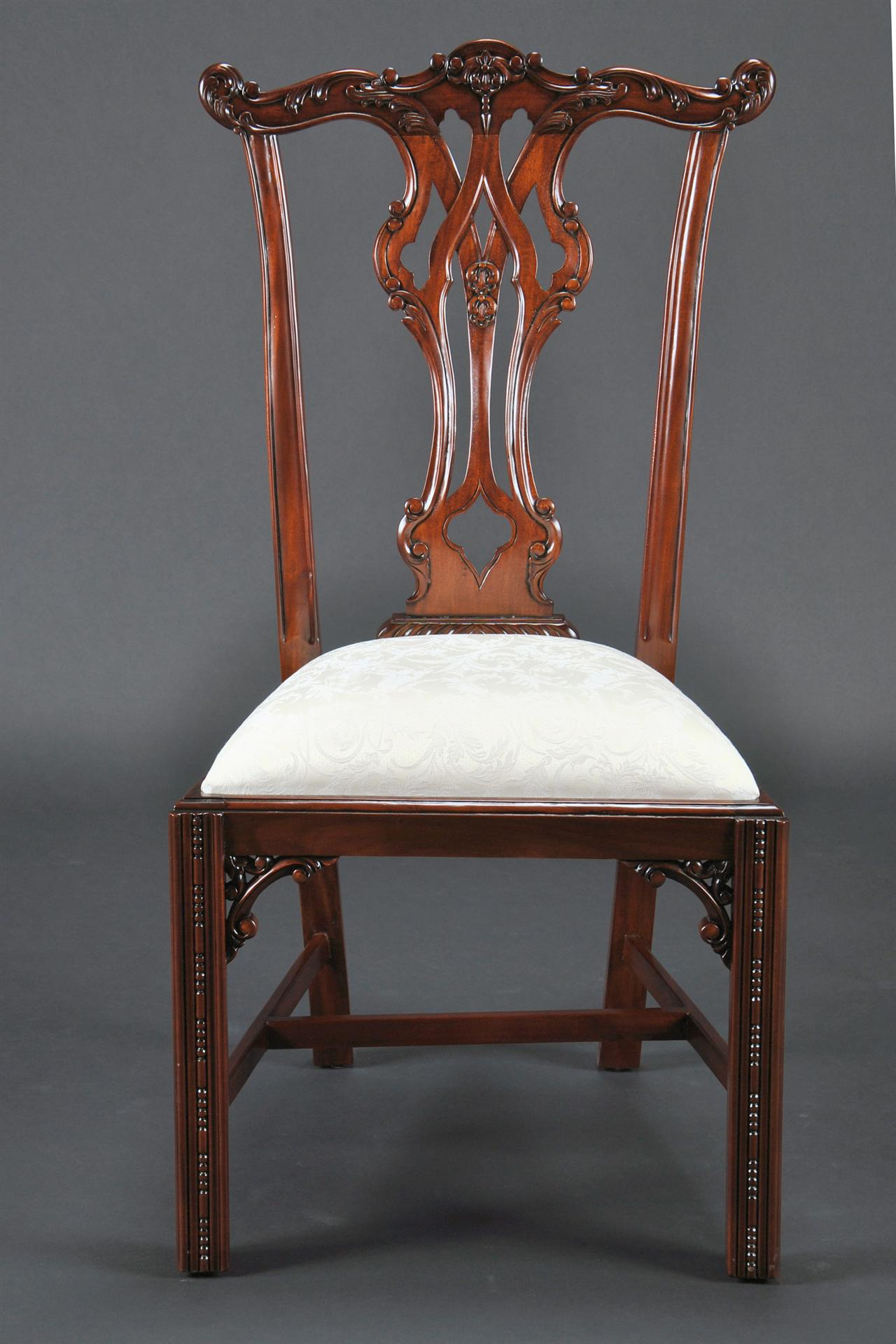 Mahogany Dining Chairs Chippendale Style Dining Chairs