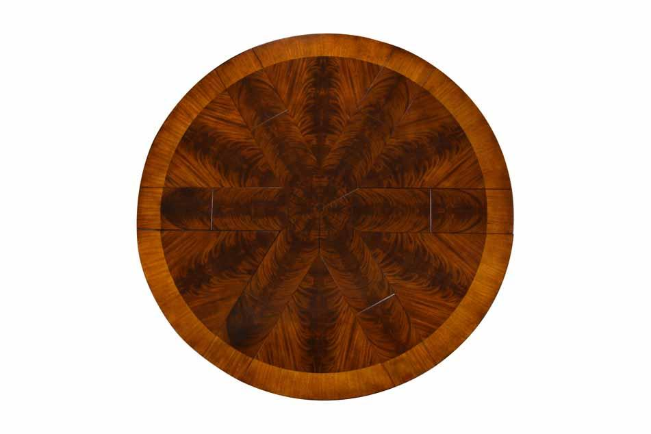 Solid Walnut Round To Dining Table With Hidden