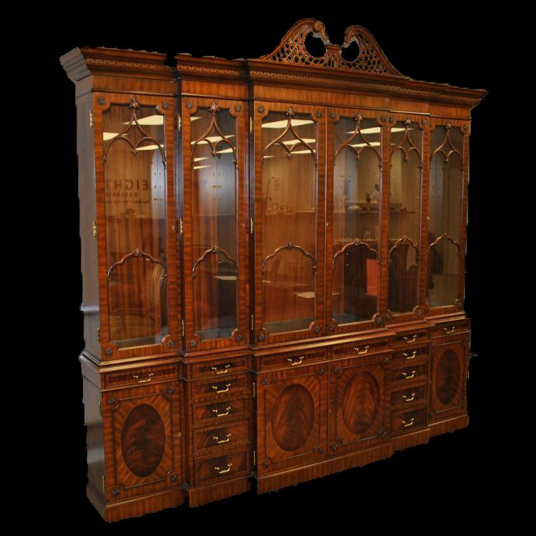 Fine Antique Reproduction China Cabinet For A Stately Home Extra Large