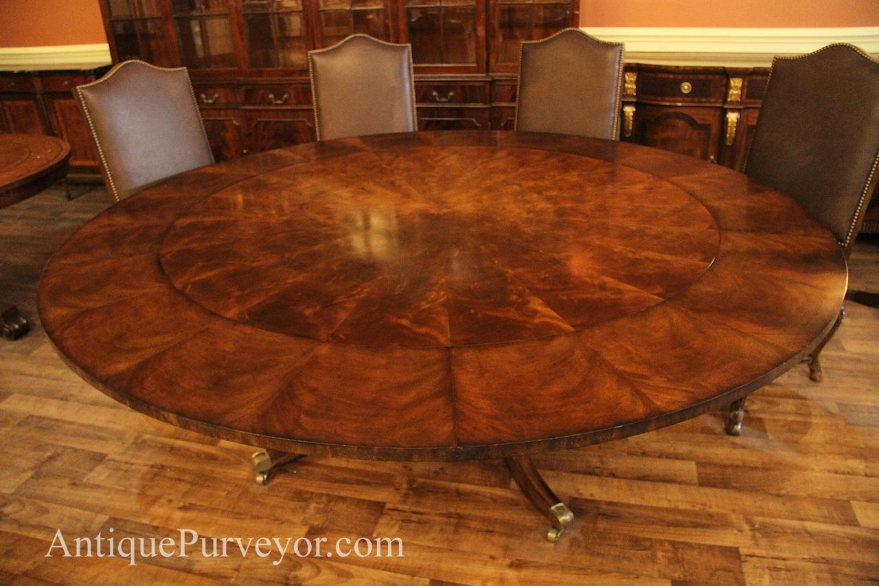 Dining room table x long extra long tuscany style dining for Large round dining room table