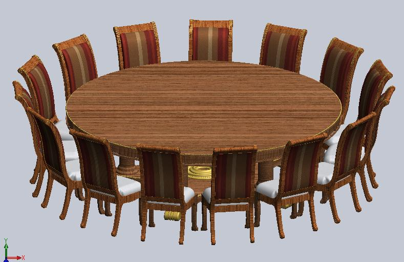 Oversized 9 foot round dining table - Extra large round dining room tables ...