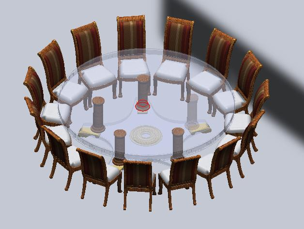 Oversized Foot Round Dining Table - 15 foot conference table