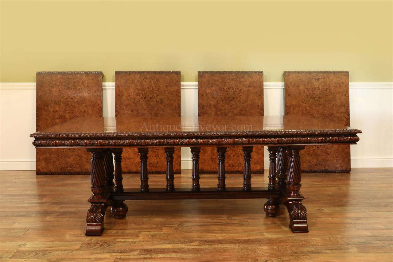 Extra Large Burl Walnut Extension Table Opens To FtVictorian - Extra large conference table