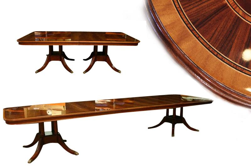 Extra large dining room table high end american finished for Extra small dining table