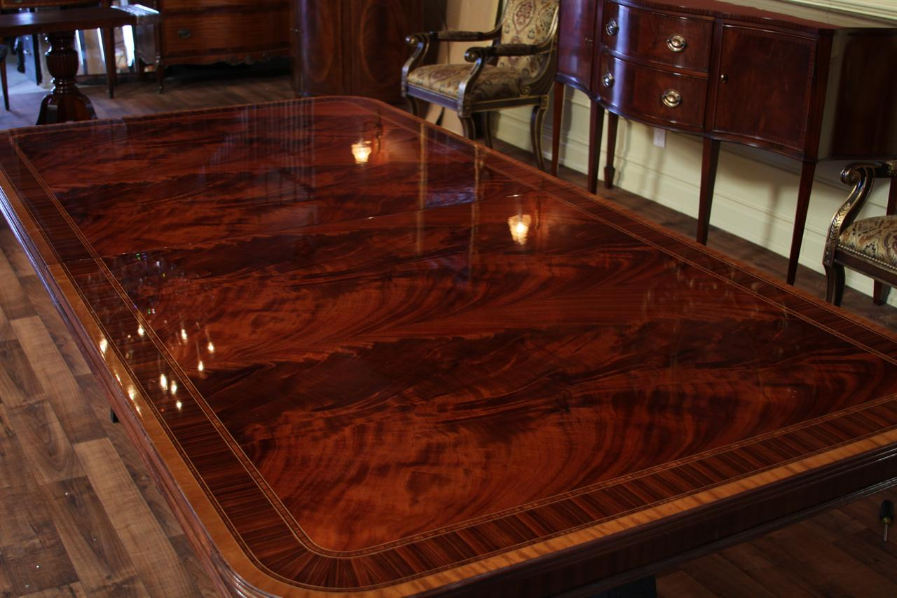 Extra large dining room table high end american finished for Biggest dining table