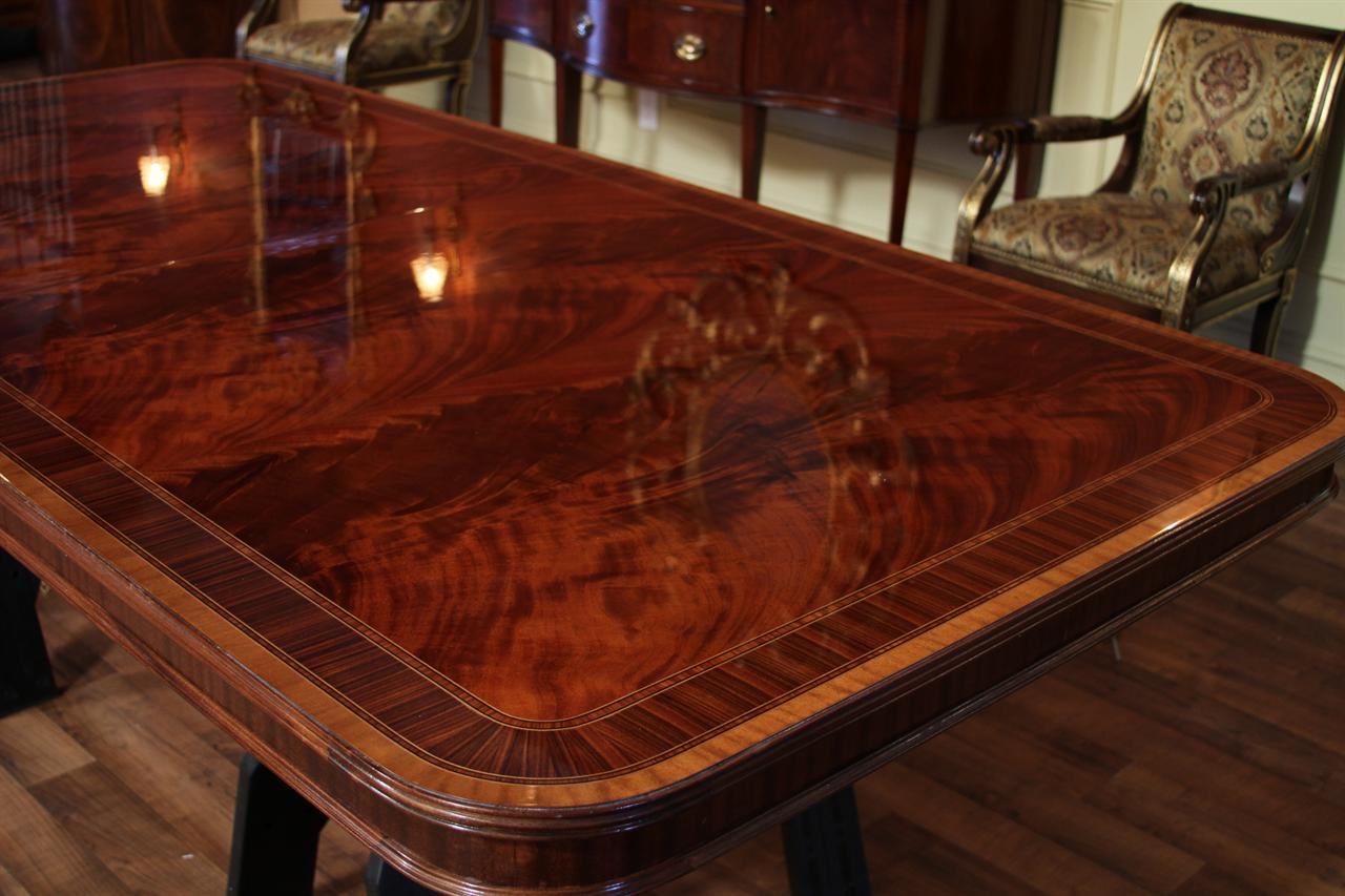 Extra large dining room table high end american finished for Large dining room table