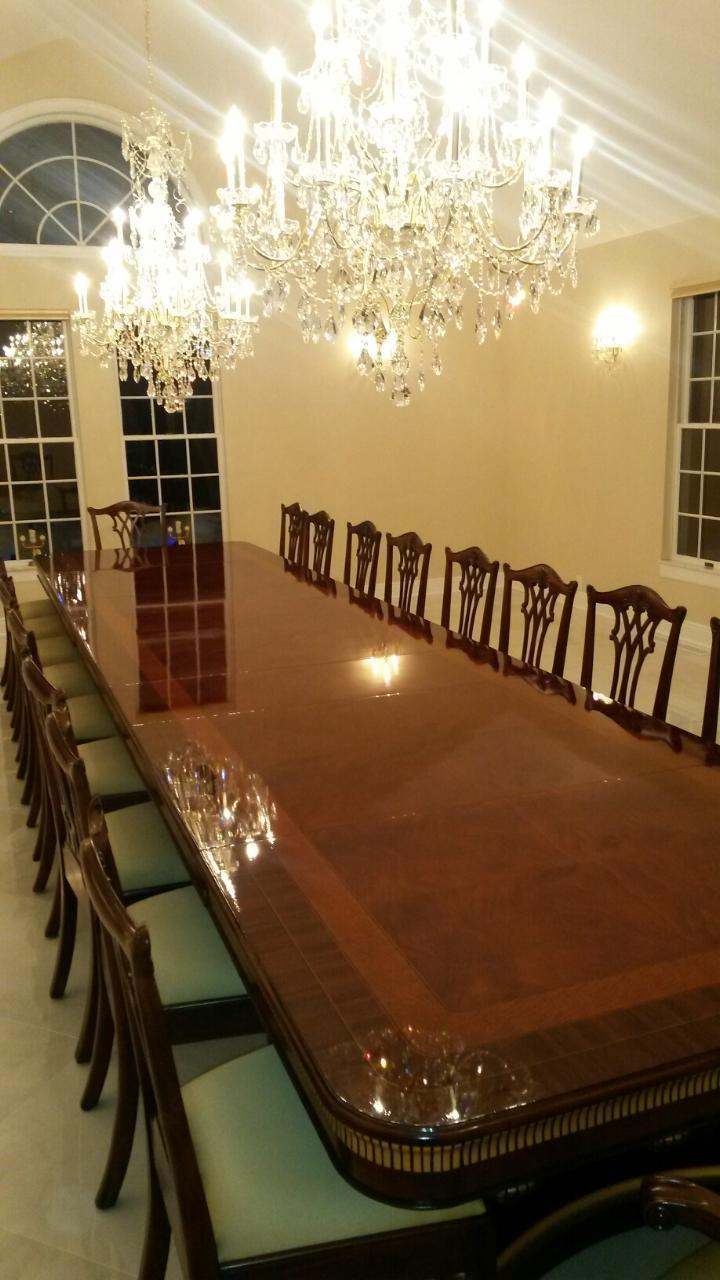 Mahogany Dining Table Designer Furniture High End Extra