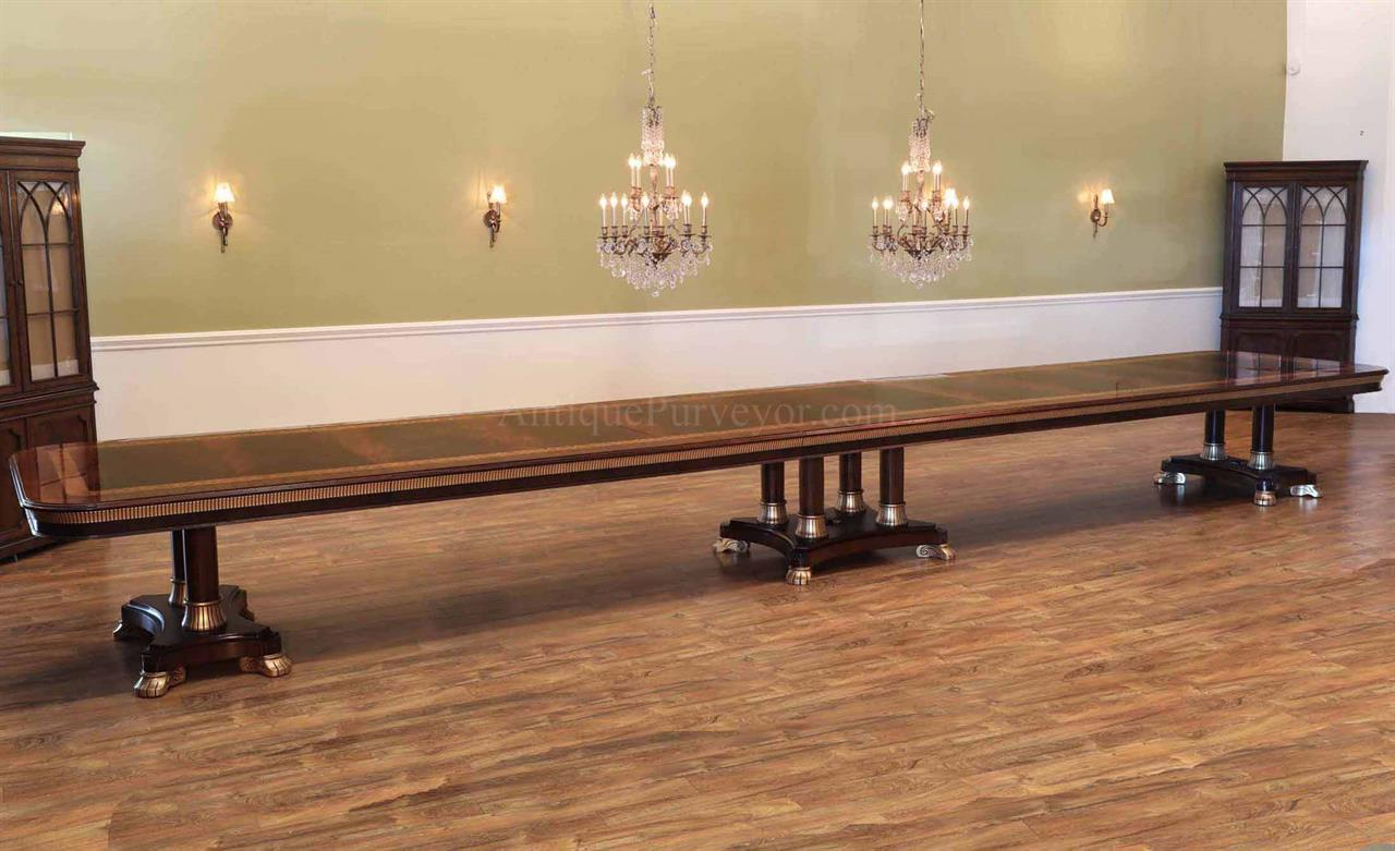 Extra Large Dining Room Table ~ 24 Foot Extension Table Seats 10-30