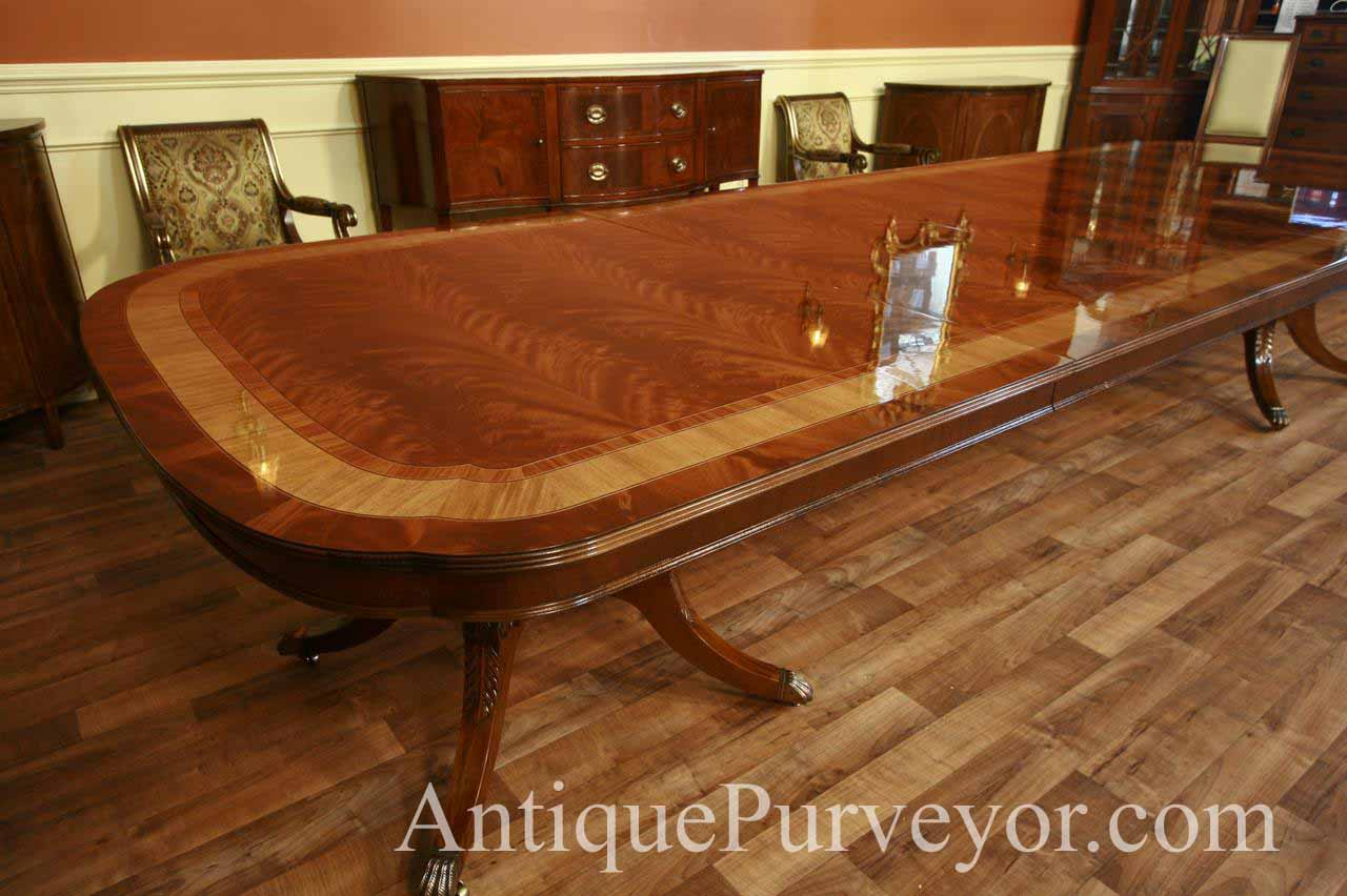 extra large dining table long dining table with 3 leaves 13ft table ebay. Black Bedroom Furniture Sets. Home Design Ideas