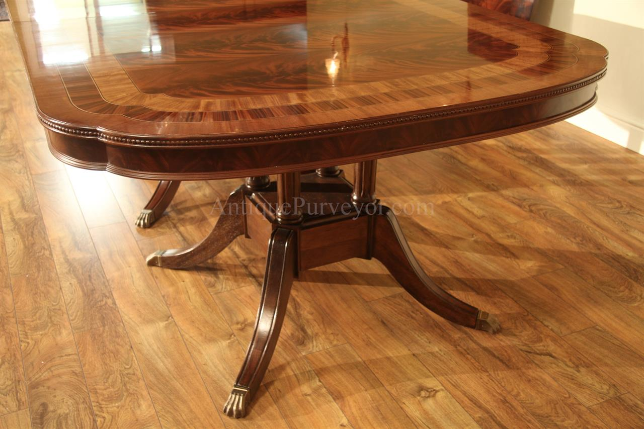 Extra large formal mahogany dining table for traditional for Formal dining table