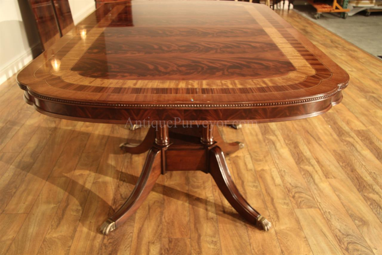 Extra large formal mahogany dining table for traditional for Dining room table replacement leaf