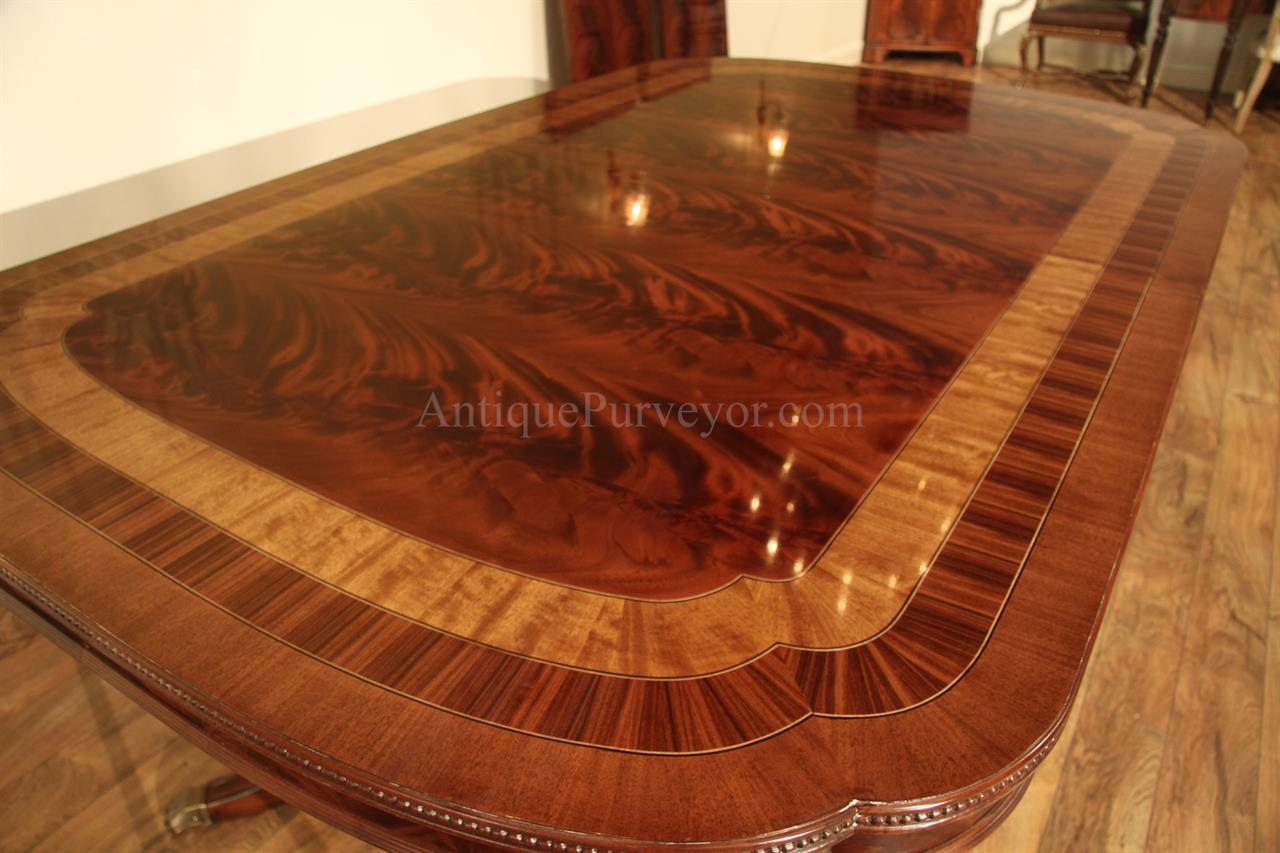 Double pedestal dining table 54 wide designer dining for Dining room table 70cm wide