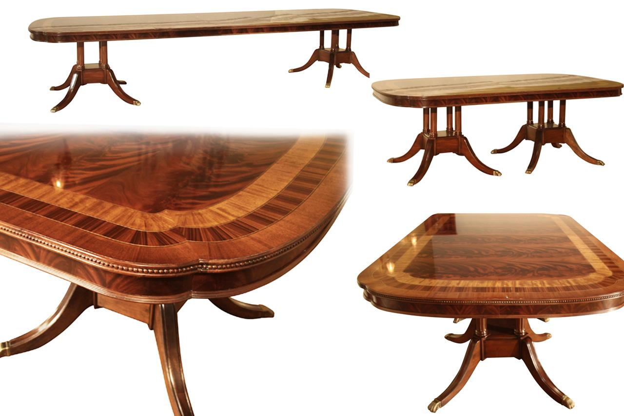 About Extra Large Formal Mahogany Dining Table For Traditional Dining