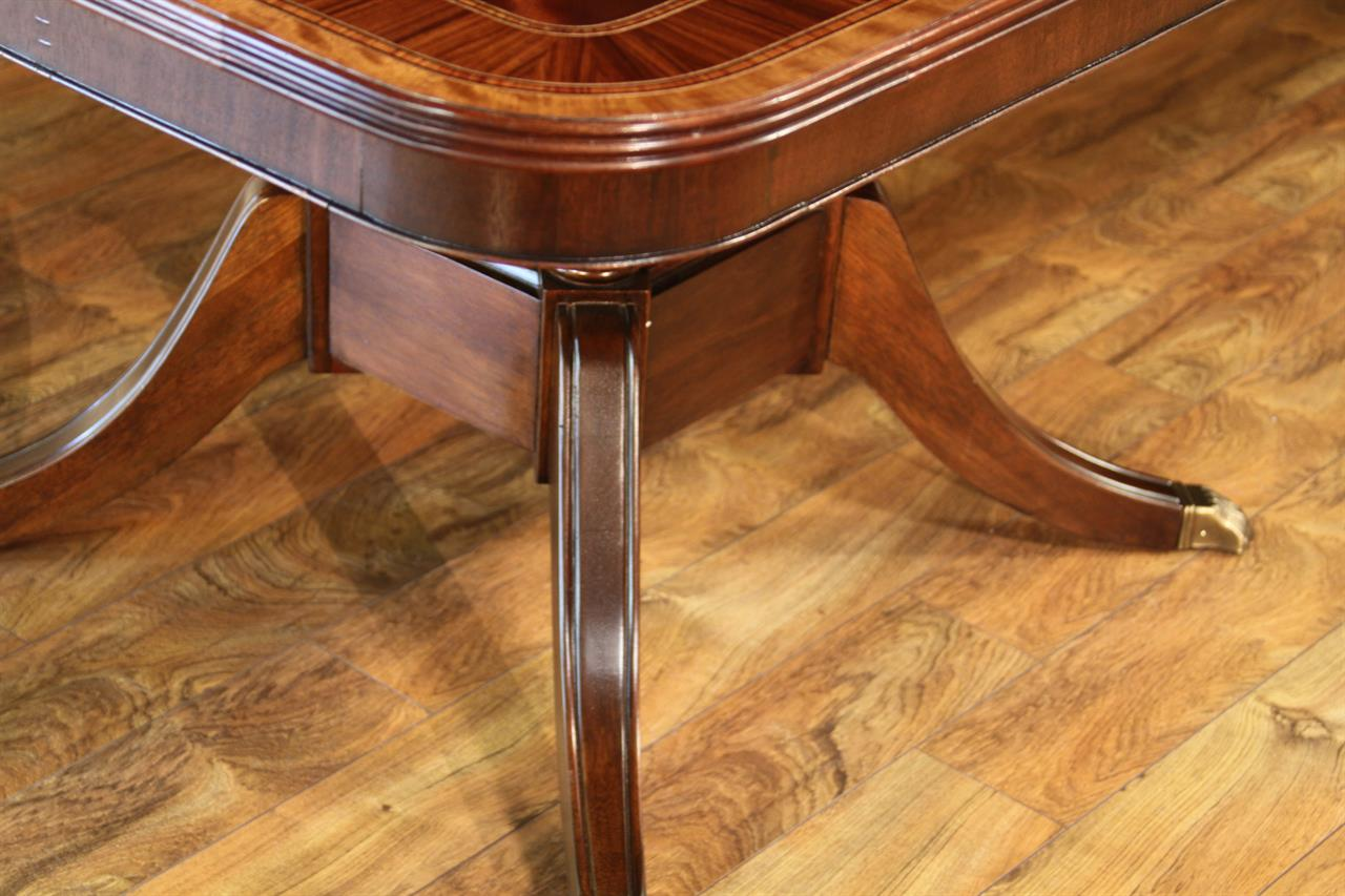 Extra large dining table american made high end for Dining room table 32 wide