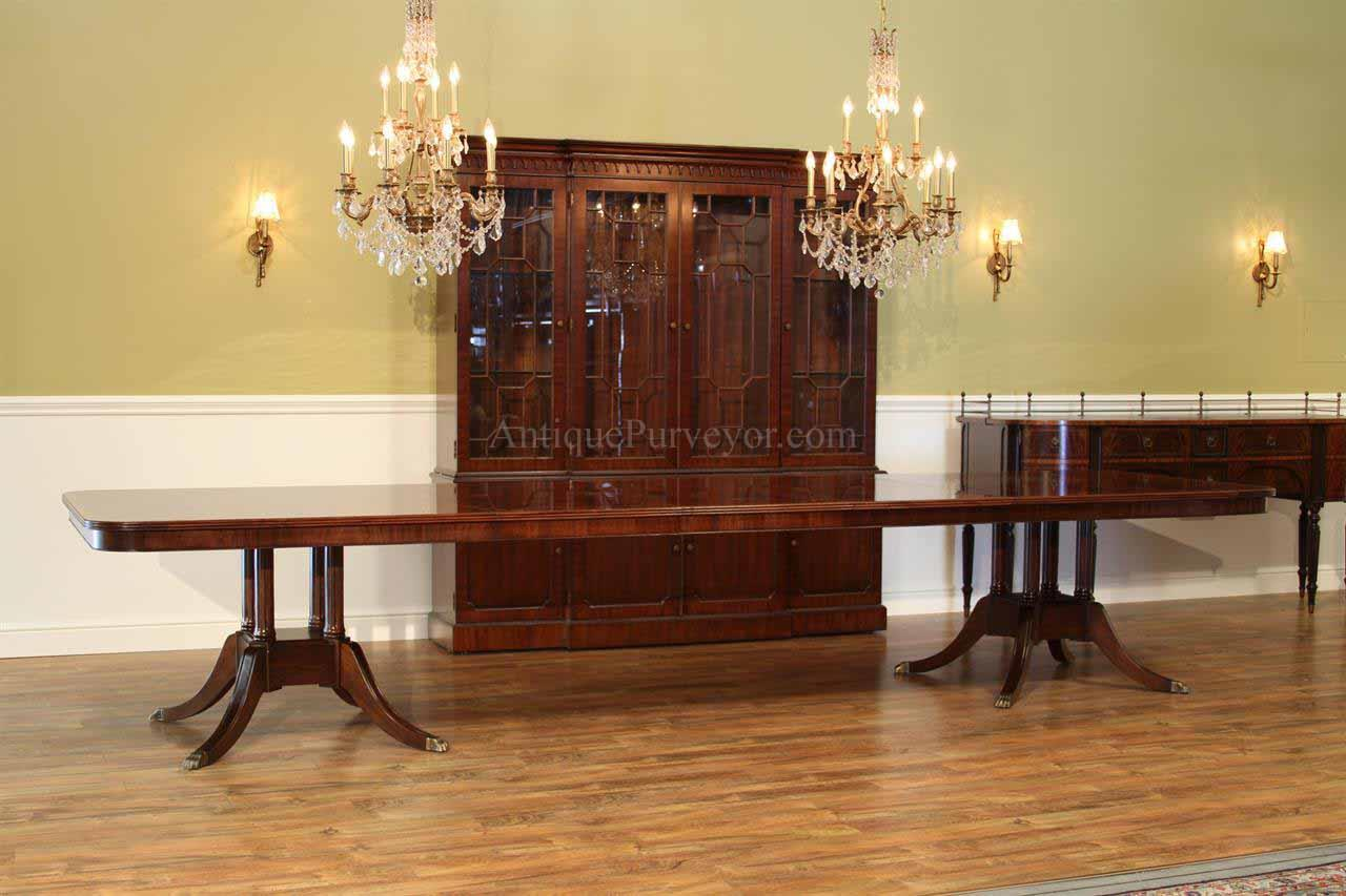 Extra Large Mahogany Dining Room Table High End American Finished