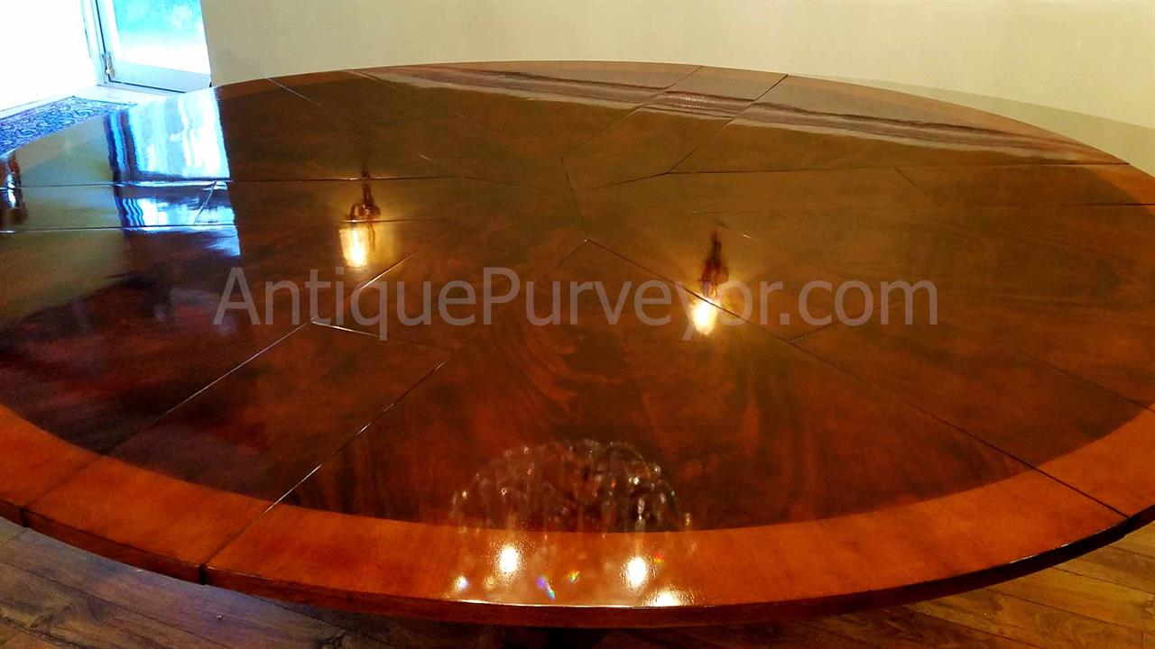 Extra Large Round Mahogany Jupe Table Seats 8 12 People