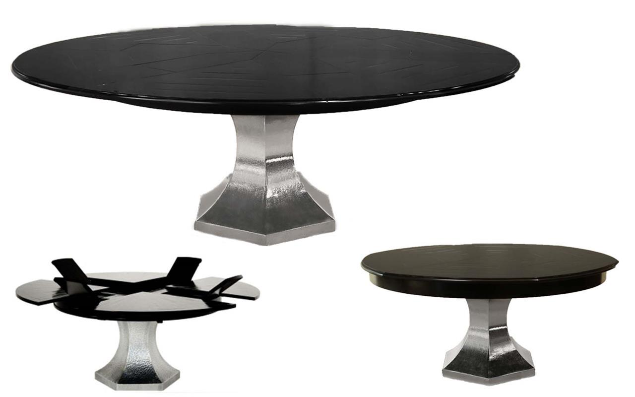 Extra Large Round Dining Table Seats 12 Expanding Jupe Table