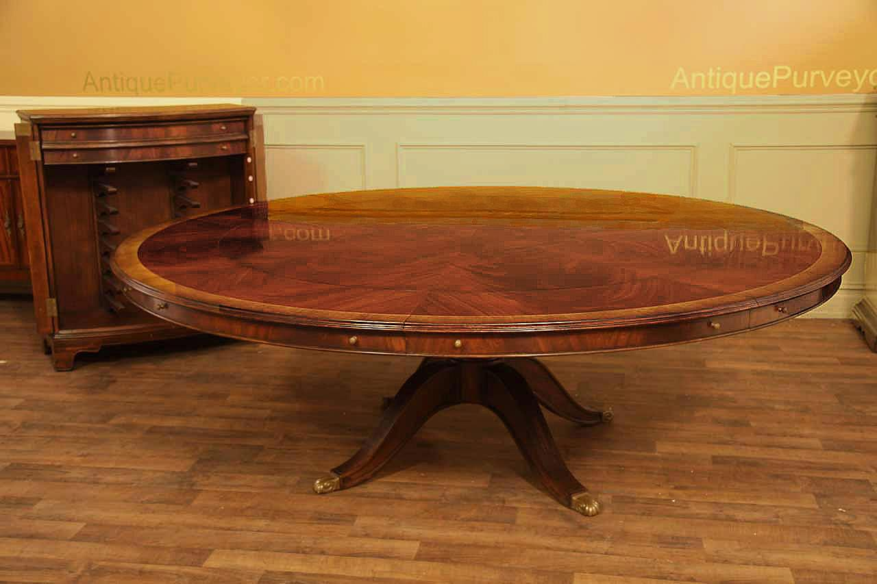 Round Dining Table For 6 With Lazy Susan extra large round mahogany perimeter table and buffet