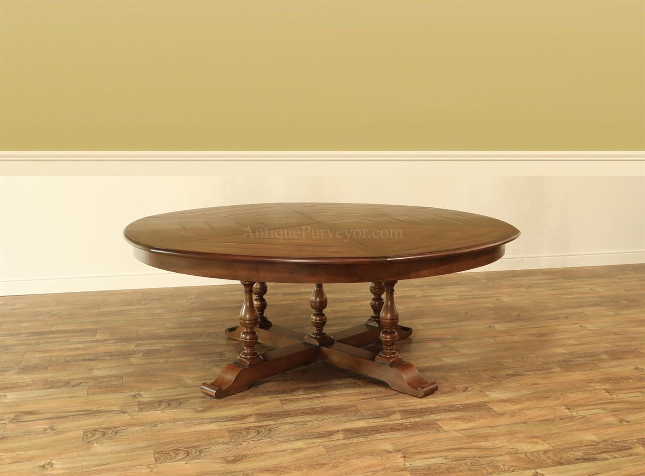 extra large round dining table seats 12 antiquepurveyor. Black Bedroom Furniture Sets. Home Design Ideas
