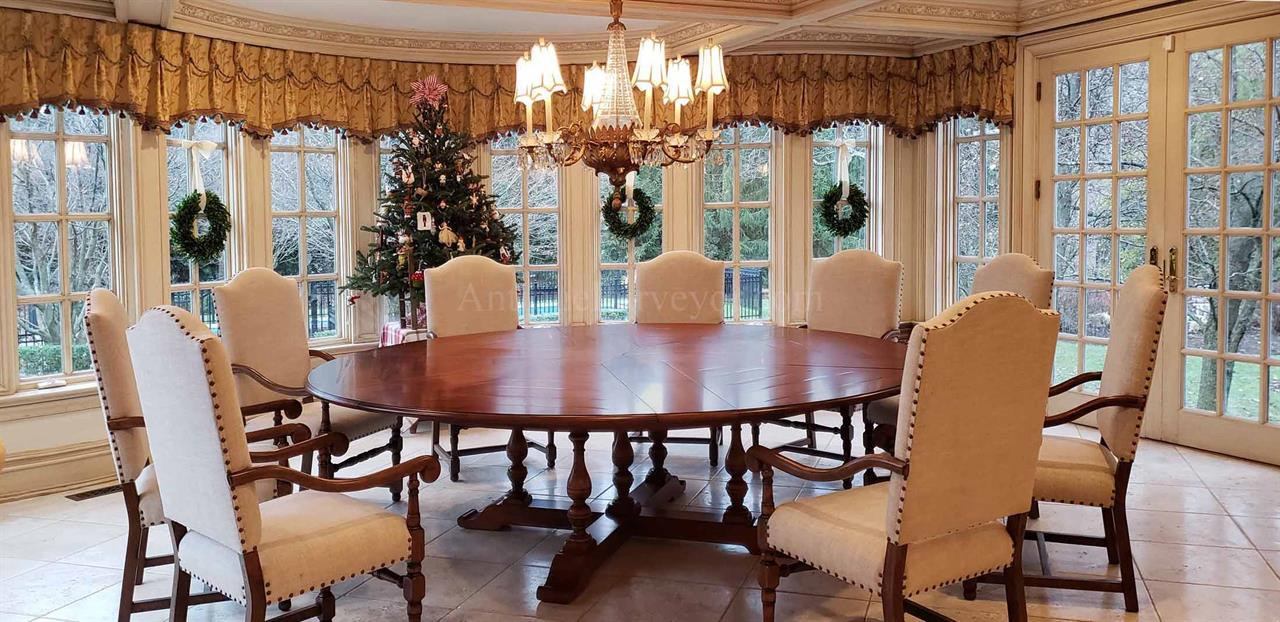 Extra Large Round Dining Table Seats 12, Dining Room Table Seats 12
