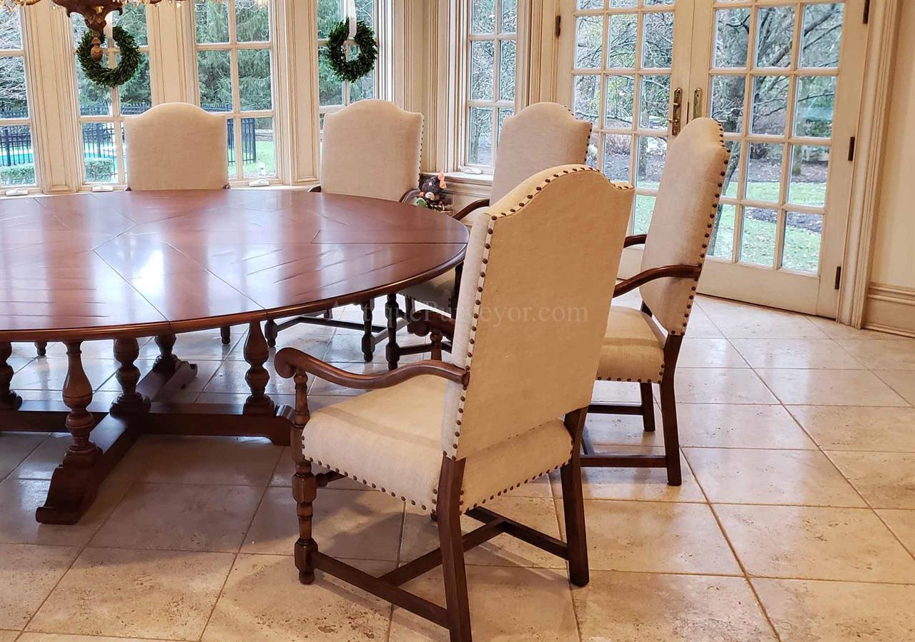 Extra Large Round Dining Table Seats 12, Large Dining Room Table Seats 12