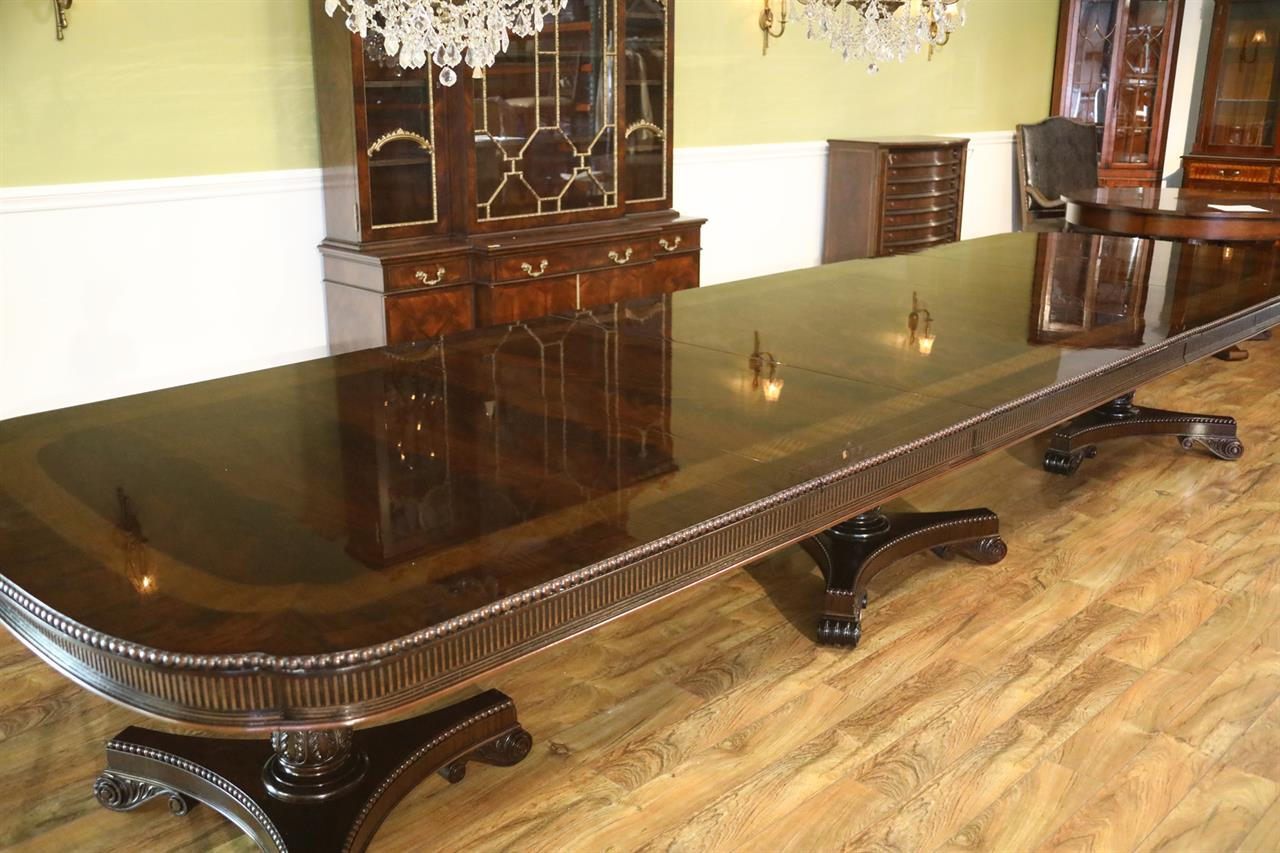 Large traditional mahogany dining table