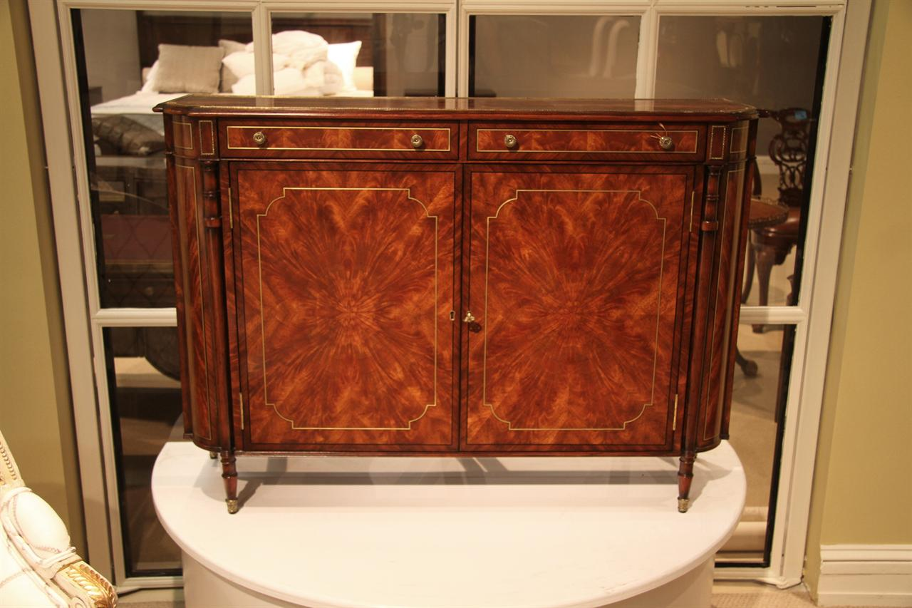 narrow hutch for dining room | Narrow Mahogany Regency Buffet or Console Table with Brass ...