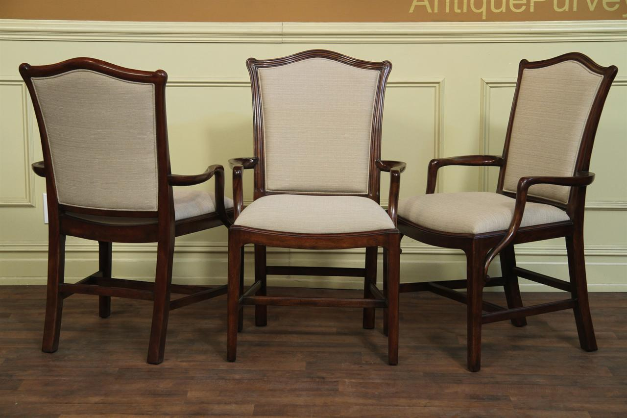 Fine Mahogany Chippendale Chairs for the Designer Home- Closed Back