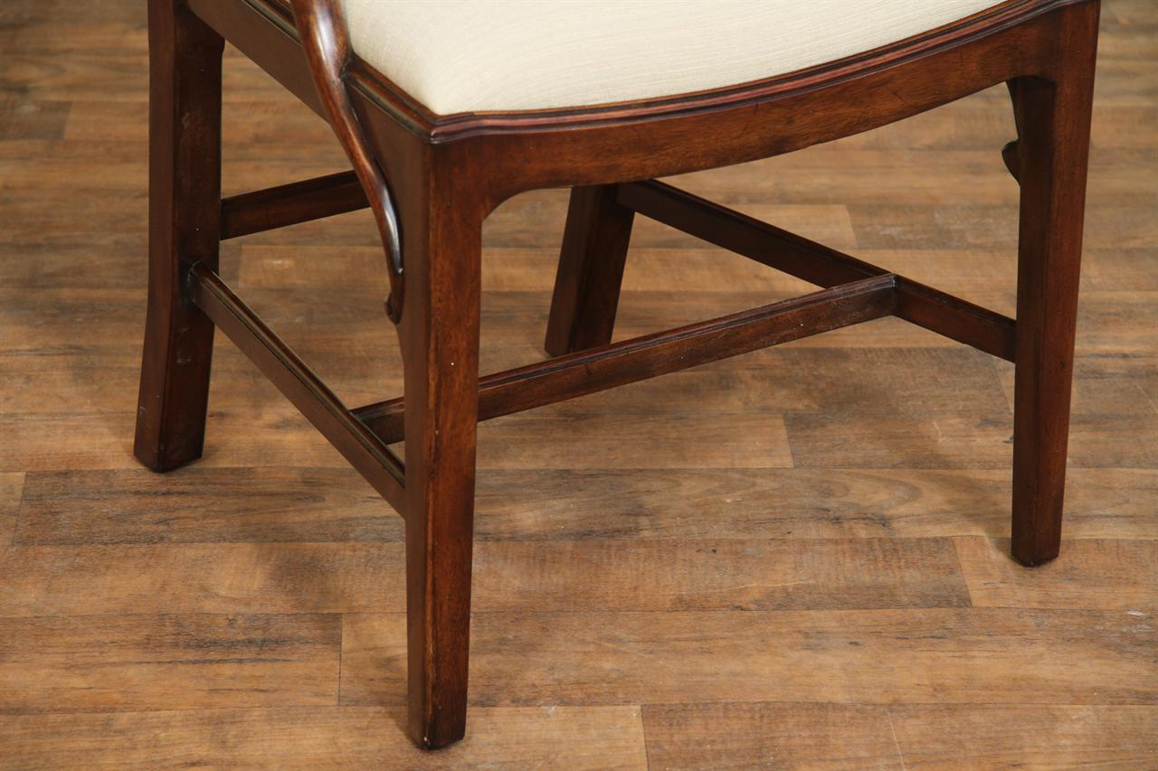 Fine Mahogany Chippendale Chairs For The Designer Home  Closed Back