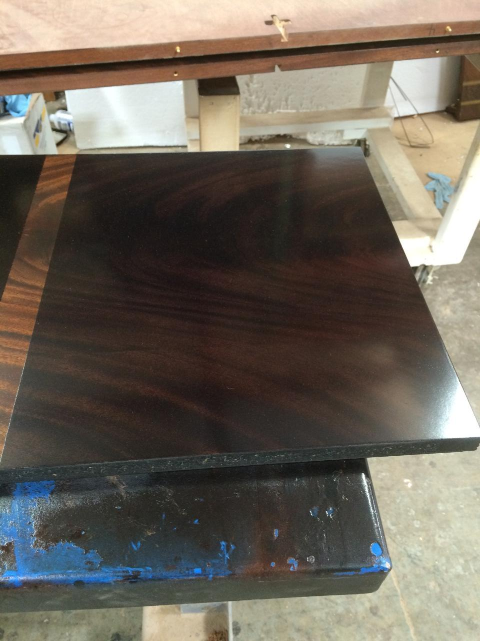 custom ebony finished mahogany