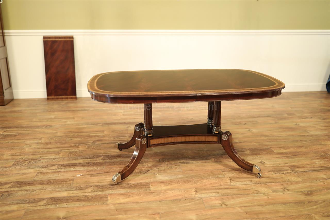 Small Mahogany Dining Table With Self Storing Leaf