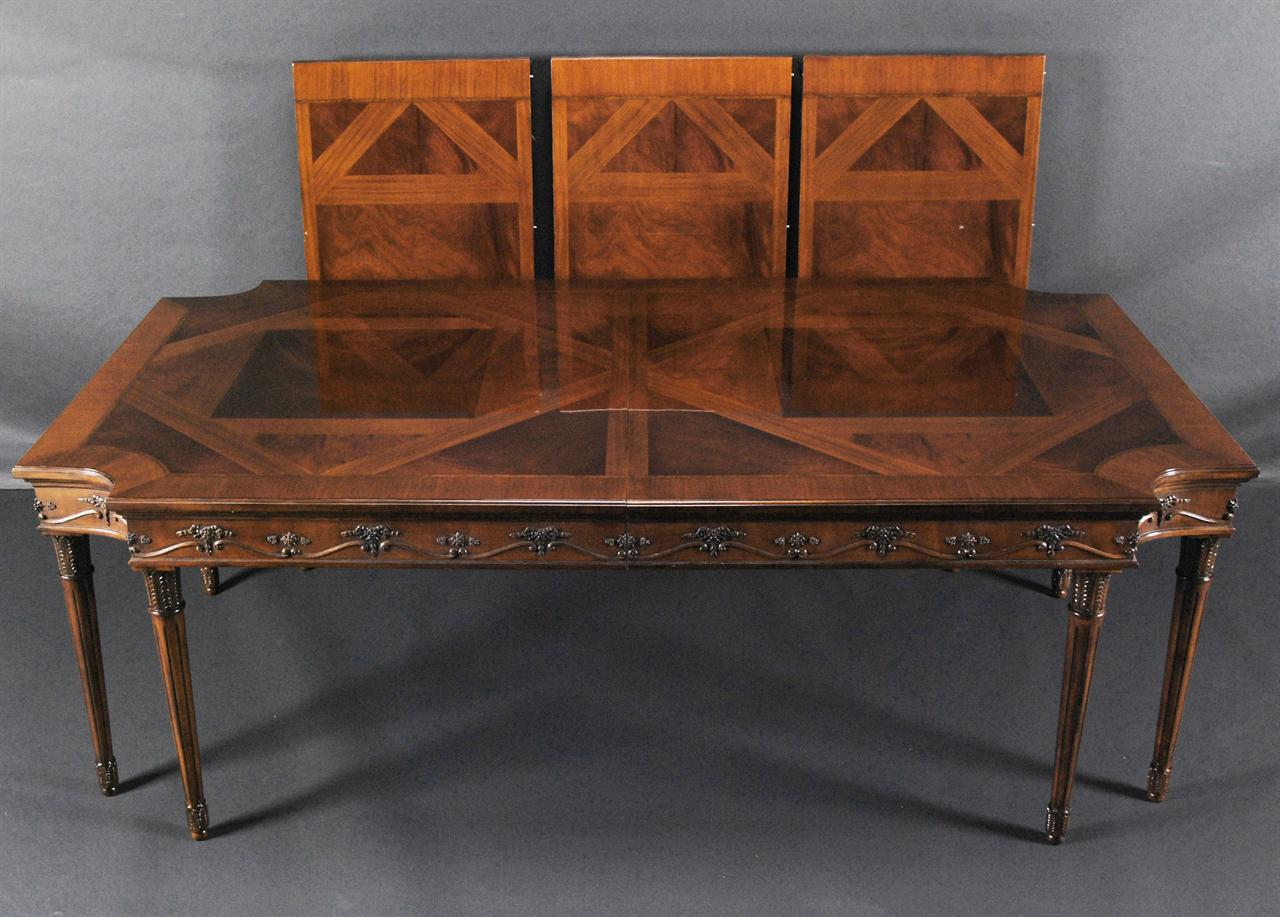 xvi neoclassical mahogany dining room table antique reproduction