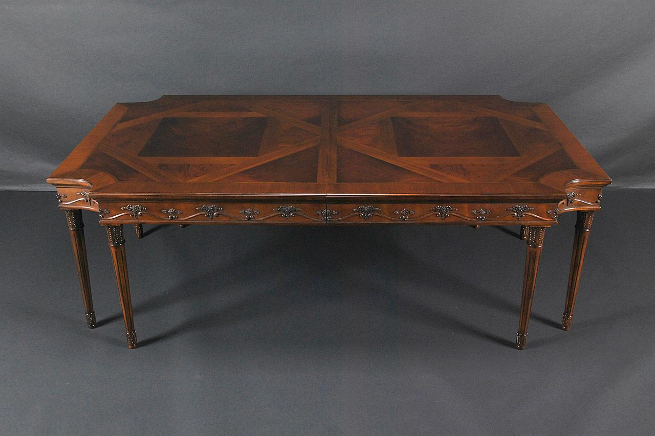 French louis xvi neoclassical mahogany dining room table for Antique dining room tables