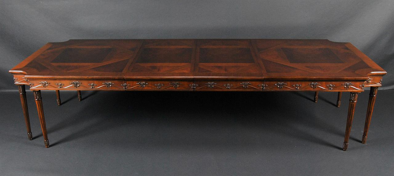 Mahoganydining Table Large French P480 on chippendale mahogany furniture