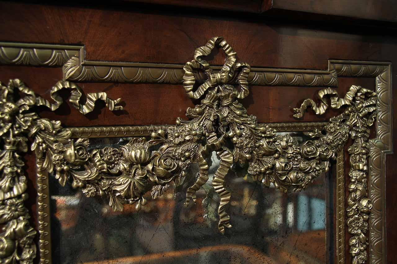 details about french dining room server or side cabinet with brass