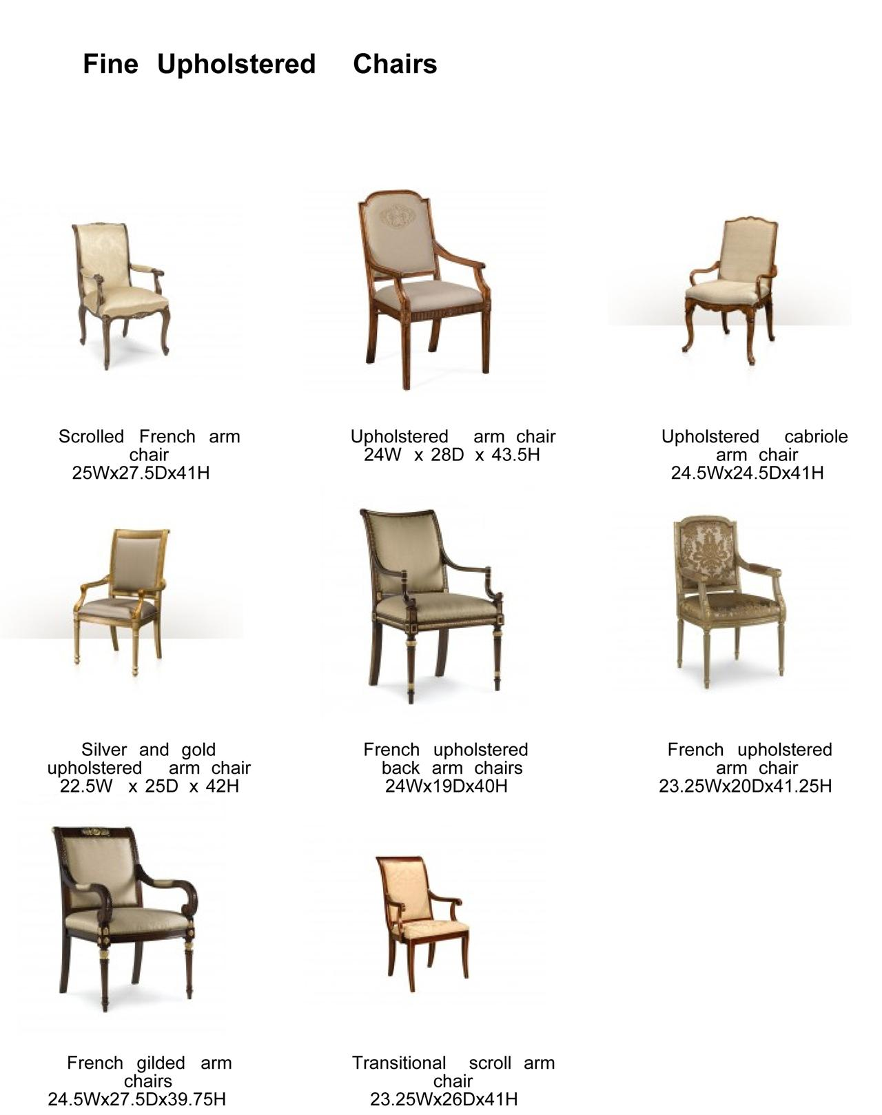 Ordinaire French Gold Accented Dining Chairs, Quick Ship No Modifications