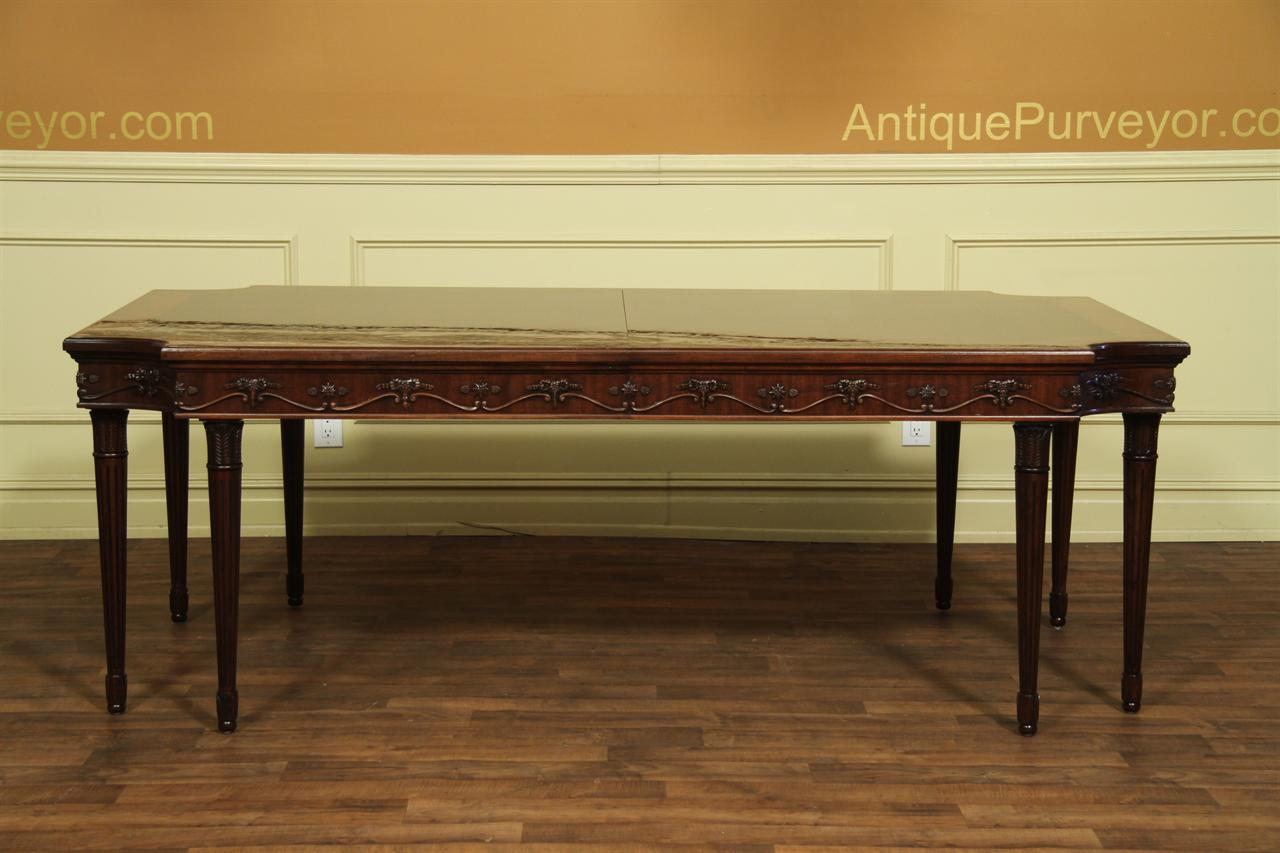 Expandable French style 8 leg dining table. French Style Neoclassical 8 Leg Dining Table Seats 12 to 14